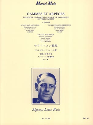 Marcel Mule - Ranges and Arpeggios - Volume 1 - Sheet Music - di-arezzo.co.uk