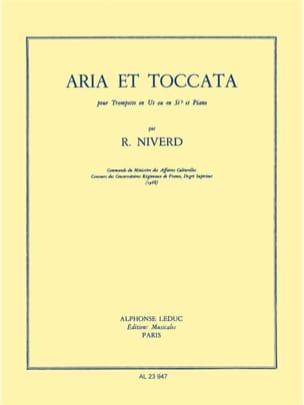 Raymond Niverd - Aria Et Toccata - Partition - di-arezzo.fr