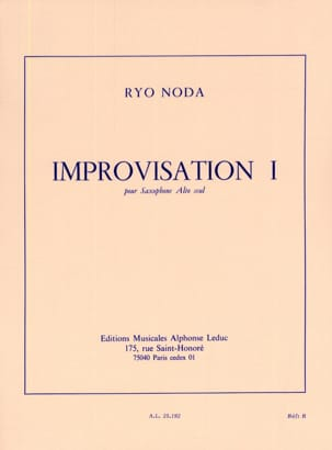 Ryo Noda - Improvisation 1 - Sheet Music - di-arezzo.co.uk