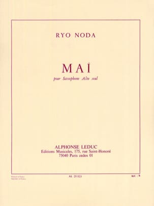 Ryo Noda - May - Sheet Music - di-arezzo.co.uk