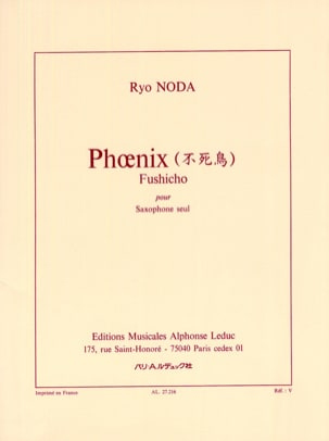 Ryo Noda - Phoenix Fushicho - Sheet Music - di-arezzo.co.uk