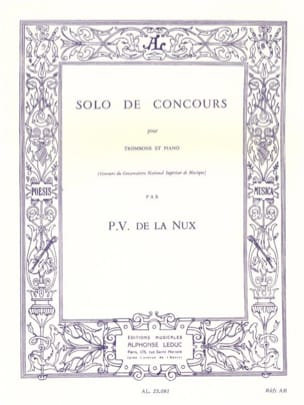 P.V. de La Nux - Solo of Competition - Sheet Music - di-arezzo.co.uk