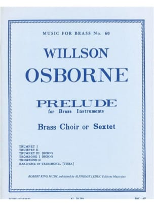 Willson Osborne - Prelude - Partition - di-arezzo.fr