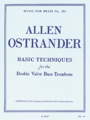Ostrander - Basic Techniques For The Double Valve Bass Trombone - Partition - di-arezzo.fr