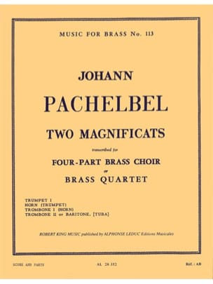Johann Pachelbel - 2 Magnificats - Partition - di-arezzo.fr