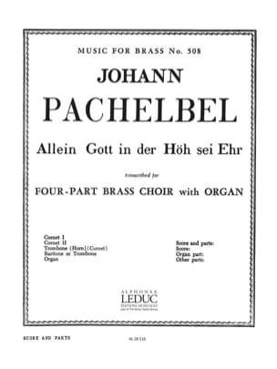 Johann Pachelbel - Allein gott In der hoh sei ehr - Partition - di-arezzo.fr