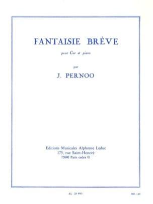 Jacques Pernoo - Fantaisie Brève - Partition - di-arezzo.fr