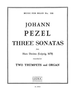 3 Sonatas 25-22-30 Hora Decima Johann Christoph Pezel laflutedepan