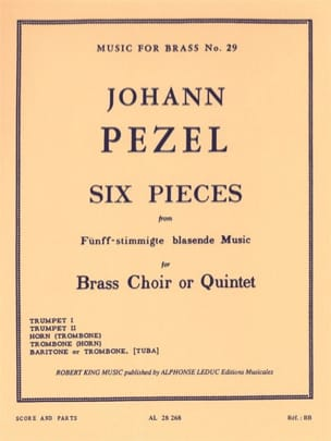 6 Pieces Johann Christoph Pezel Partition laflutedepan