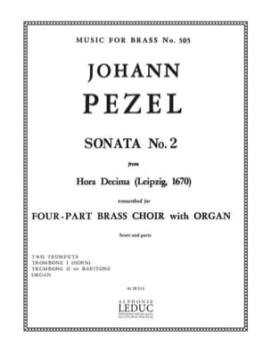 Sonata N° 2 - Hora Decima Johann Christoph Pezel laflutedepan