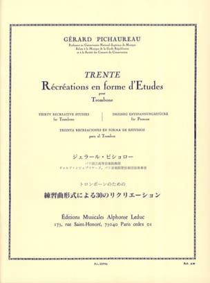 Gérard Pichaureau - 30 Recreations In Form Of Studies - Sheet Music - di-arezzo.co.uk