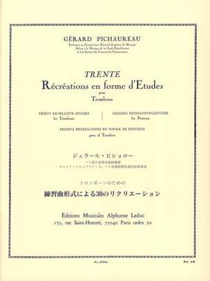 Gérard Pichaureau - 30 Ricreazioni in forma di studi - Partitura - di-arezzo.it