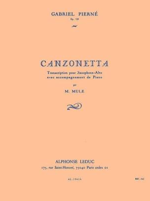 Gabriel Pierne - Canzonetta Opus 19 - Partition - di-arezzo.fr