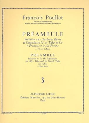 François Poullot - Preamble Volume 3 - Sheet Music - di-arezzo.co.uk