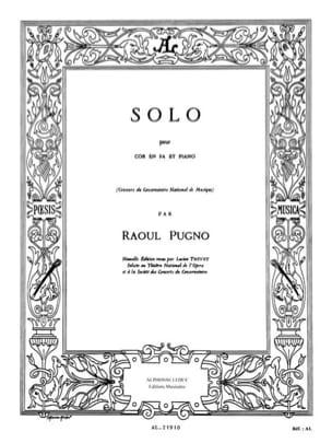Solo - Raoul Pugno - Partition - Cor - laflutedepan.com