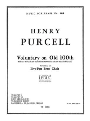 Voluntary on old 100th - Henry Purcell - Partition - laflutedepan.com