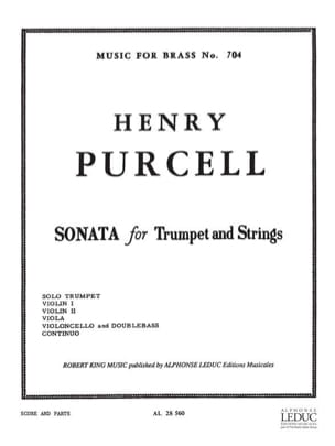 Henry Purcell - Sonata for trumpet And strings - Sheet Music - di-arezzo.com