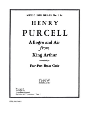 Henry Purcell - Allegro and air from King Arthur - Partition - di-arezzo.fr