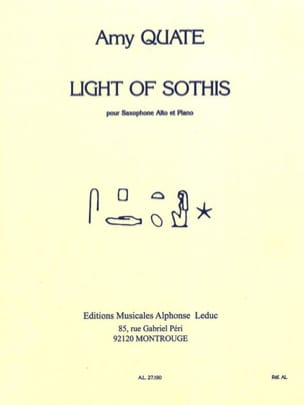 Light Of Sothis Amy Quate Partition Saxophone - laflutedepan