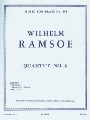Quartet N° 4 Wilhelm Ramsöe Partition laflutedepan
