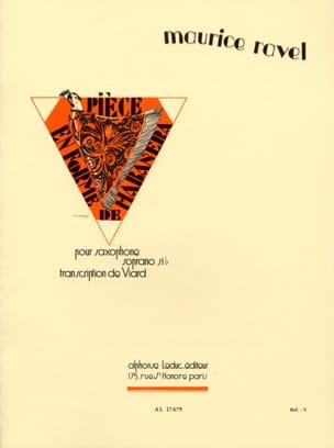 Maurice Ravel - Pièce En Forme de Habanera - Partition - di-arezzo.fr
