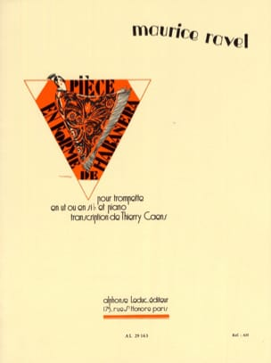 Piece en forme de Habanera - Maurice Ravel - laflutedepan.com