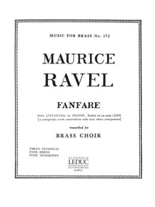 Fanfare RAVEL Partition Ensemble de cuivres - laflutedepan