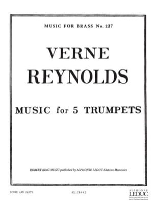 Verne Reynolds - Music for 5 Trumpets - Partition - di-arezzo.fr
