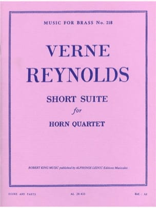 Verne Reynolds - Short Suite - Partition - di-arezzo.fr