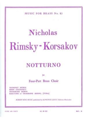 Notturno RIMSKY-KORSAKOV Partition Ensemble de cuivres - laflutedepan