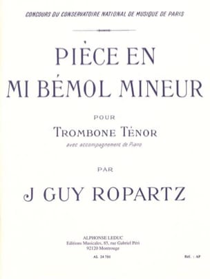 J.Guy Ropartz - Piece In Minor Eb - Sheet Music - di-arezzo.co.uk