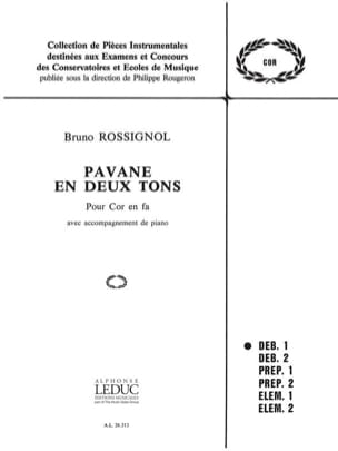 Bruno Rossignol - Pavane In Two Tones. Horn - Sheet Music - di-arezzo.com