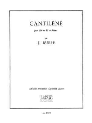 Jeanine Rueff - Cantilène - Partition - di-arezzo.fr
