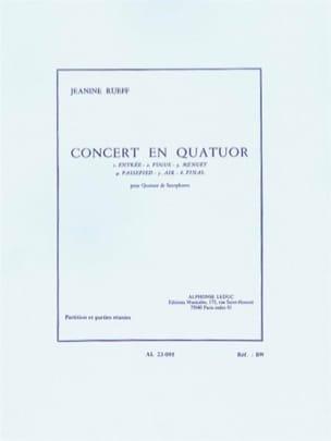 Jeanine Rueff - Concierto en cuarteto - Partition - di-arezzo.es