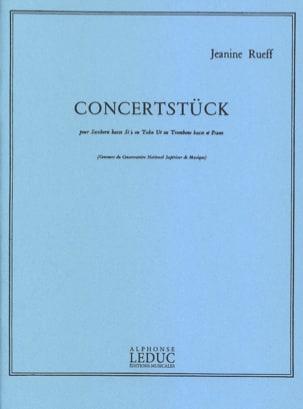 Jeanine Rueff - Concertstück - Partition - di-arezzo.fr