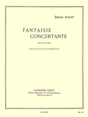 Jeanine Rueff - Fantaisie Concertante - Partition - di-arezzo.fr
