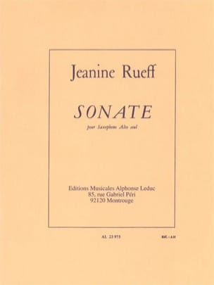 Jeanine Rueff - Sonata - Sheet Music - di-arezzo.co.uk
