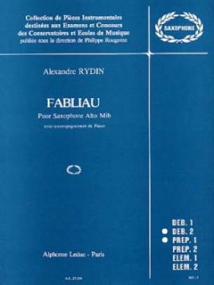 Rydin - Fabliau - Partition - di-arezzo.fr