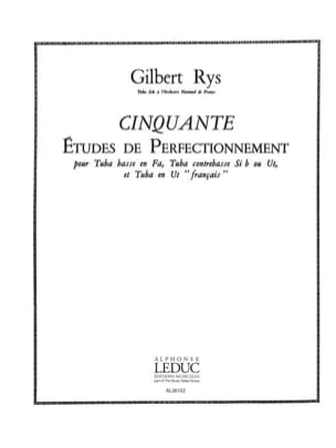 Gilbert Rys - 50 Advanced Studies - Sheet Music - di-arezzo.co.uk