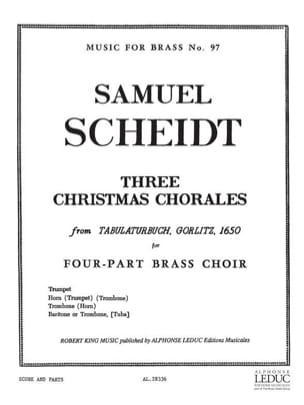 Samuel Scheidt - 3 Christmas Chorales - Partition - di-arezzo.fr
