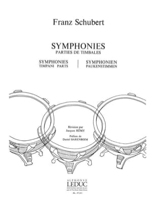 SCHUBERT - Symphonies - Timpani Parties - Sheet Music - di-arezzo.co.uk