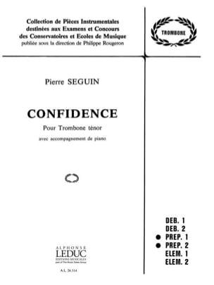 Pierre Seguin - Confidence - Partition - di-arezzo.fr