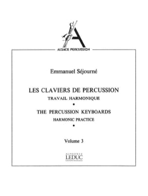 Emmanuel Séjourné - Volume 3 Percussion Keyboards - Sheet Music - di-arezzo.co.uk