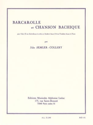 Jules Semler-Collery - Barcarolle And Bachic Song - Sheet Music - di-arezzo.com