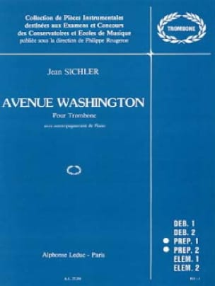 Avenue Washington Jean Sichler Partition Trombone - laflutedepan