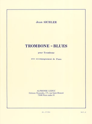 Jean Sichler - Blues Trombone - Sheet Music - di-arezzo.co.uk