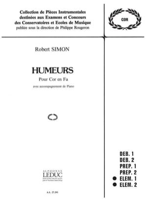 Humeurs - Robert Simon - Partition - Cor - laflutedepan.com