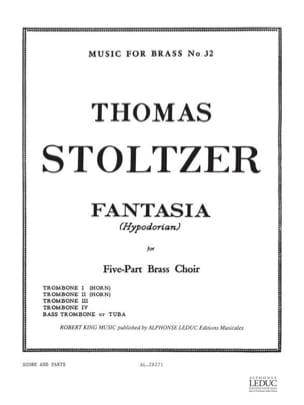 Thomas Stoltzer - Fantasia Hypodorian - Partition - di-arezzo.fr