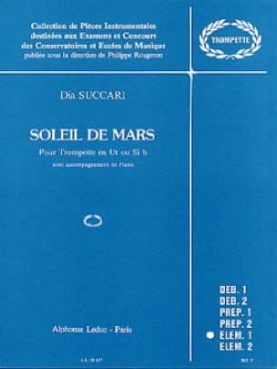 Dia Succari - Mars Sun - Sheet Music - di-arezzo.co.uk