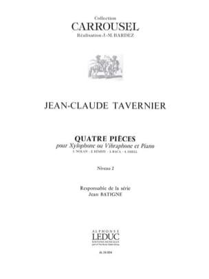 Jean-Claude Tavernier - Quatre Pièces - Niveau 2 - Partition - di-arezzo.fr